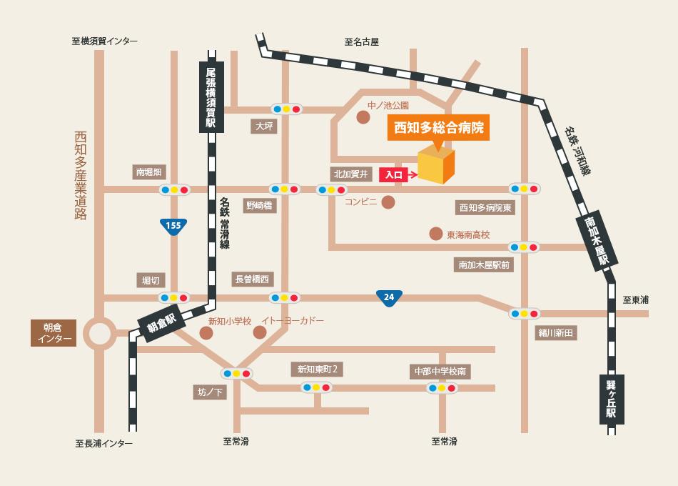 簡易地図 知多市方面